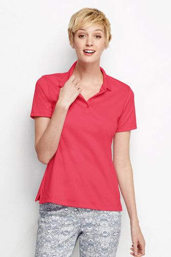 Women's Regular Short Sleeve Pima Polo Shirt  Classic Fit