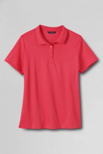 Le Polo Pima Uni à Manches Courtes Femme, Taille Standard