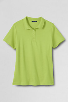 Women's Short Sleeve Pima Polo Shirt  Classic Fit