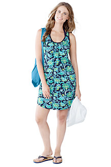Women's Sleeveless Floral Jersey Cover-Up Vest