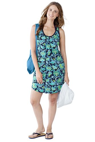 Women's Regular Sleeveless Floral Jersey Cover-Up Vest