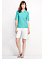 Women's Regular Slim Fit Elbow Sleeve Pima Polo