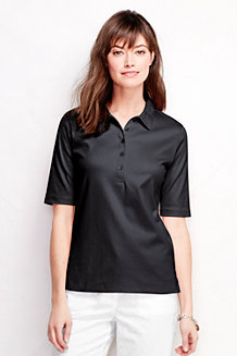 Women's Slim Fit Elbow Sleeve Pima Polo