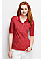Women's Regular Slim Fit Elbow Sleeve Tipped Collar Printed Polo Shirt