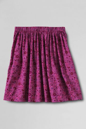 Little Girls' Printed Full Gathered Skirt