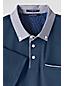 Men's Regular Slim Fit Woven Collar Supima Polo