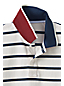 Men's Regular Pop Collar Striped Piqué Polo
