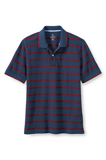 Men's Pop Collar Striped Piqué Polo