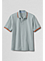 Men's Regular Piqué Polo with Tipped/Contrast Collar