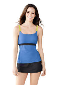 Women's Long AquaSport Scoop Tankini Swimsuit Top