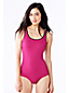 Women's Regular Tugless Tank Soft Cup Embroidered Swimsuit with Tummy Control