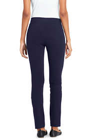Women's Petite Starfish Slim Leg Elastic Waist Pants Mid Rise