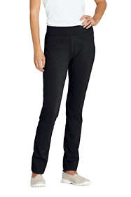 Women's Petite Starfish Mid Rise Slim Leg Elastic Waist Pull On Pants