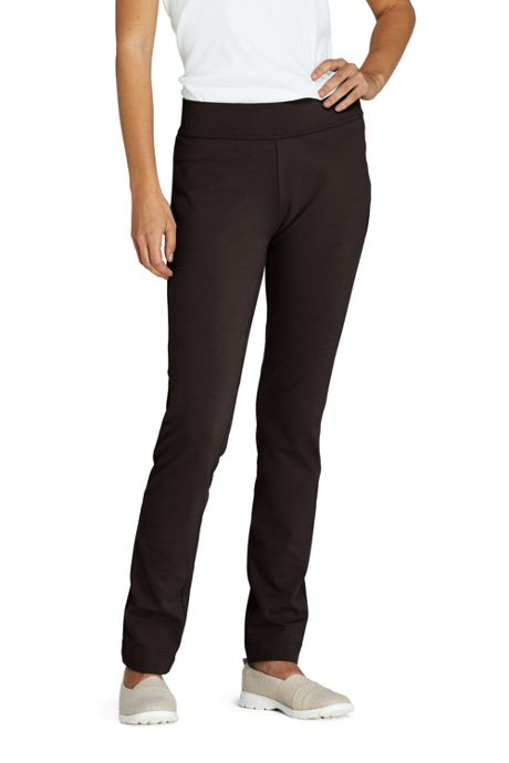 Women's Starfish Mid Rise Slim Leg Elastic Waist Pull On Pants