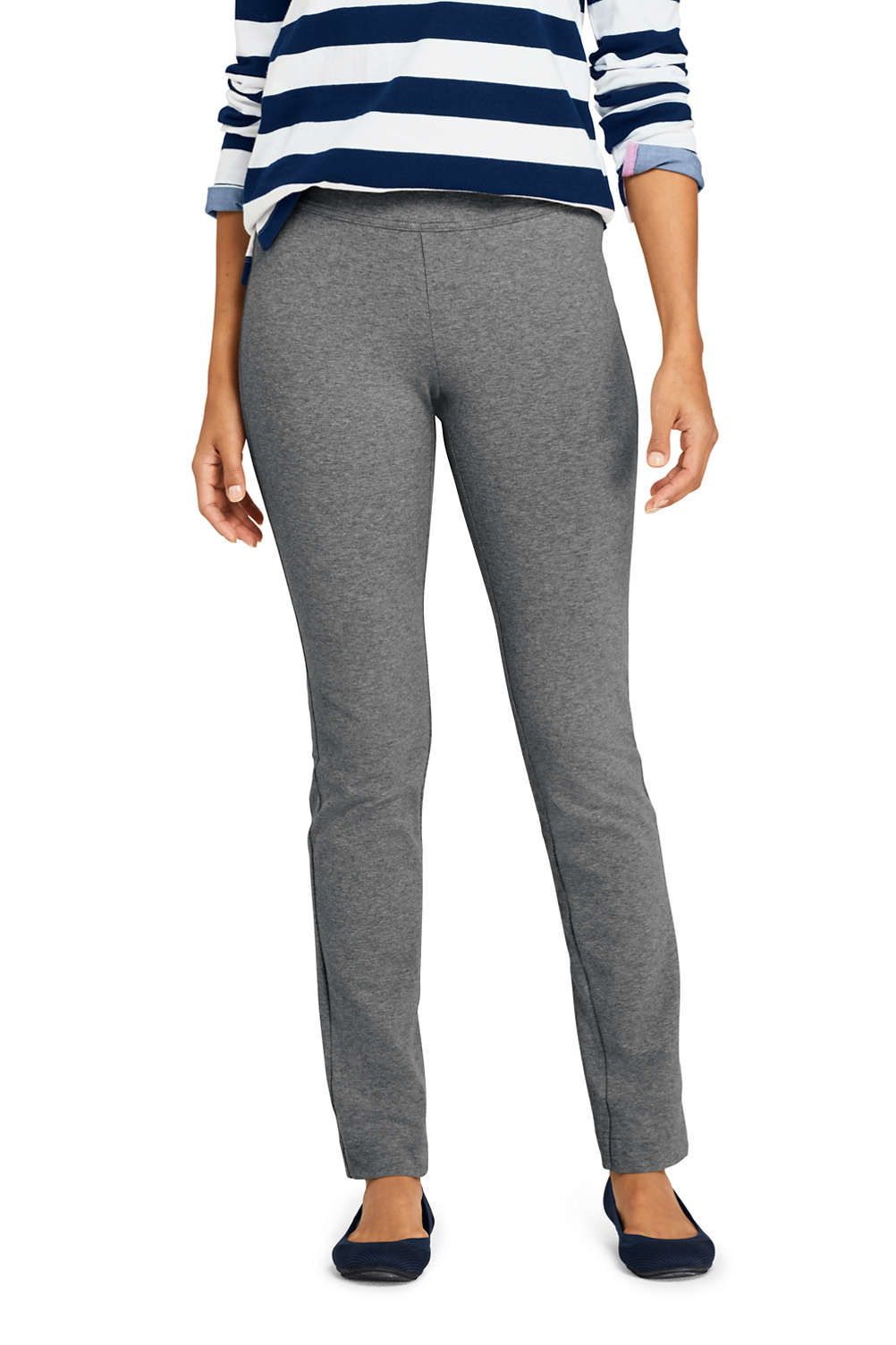 c1d296b7015b0 Women's Starfish Mid Rise Slim Leg Elastic Waist Pull On Pants from Lands'  End