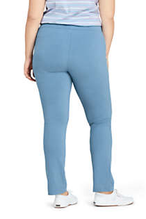 Women's Plus Size Starfish Mid Rise Slim Leg Elastic Waist Pull On Pants, Back