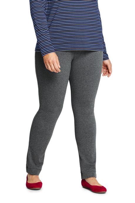Women's Plus Size Starfish Mid Rise Slim Leg Elastic Waist Pull On Pants