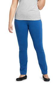 Women's Plus Size Starfish Slim Leg Elastic Waist Pants Mid Rise