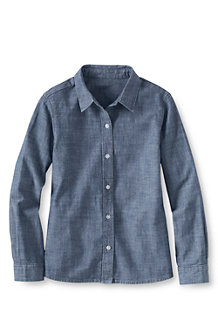 Girls' Chambray Woven Blouse