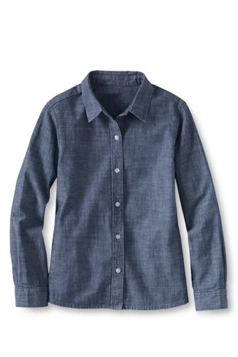 Little Girls' Chambray Woven Blouse