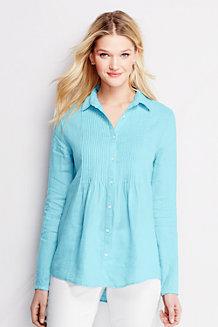 Women's Pintuck Linen Shirt