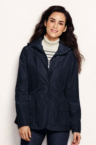 Women's Petite Convertible Hooded Jacket