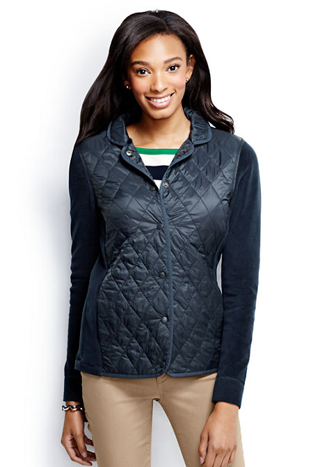 Lands End Womens Hybrid Primaloft Blazer