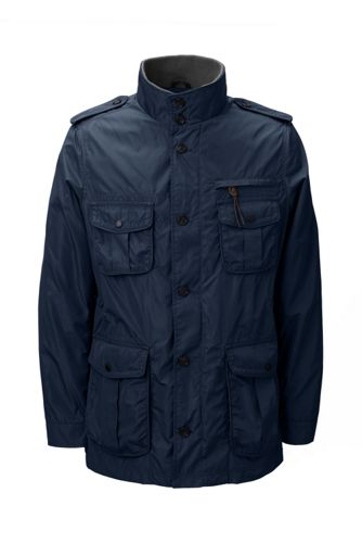 Lands End Military Mens Jacket (Black / Classic Navy)