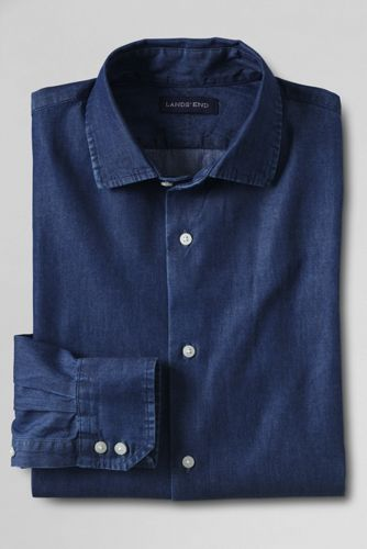 Mens Denim Dress Shirt
