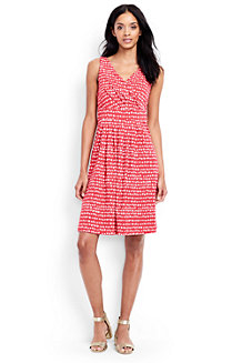 Women's Pattern Sleeveless Crossover Dress
