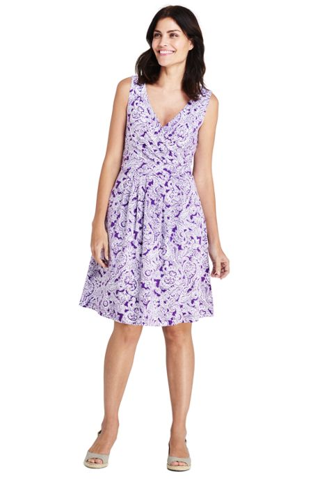 Women's Sleeveless Fit and Flare Dress