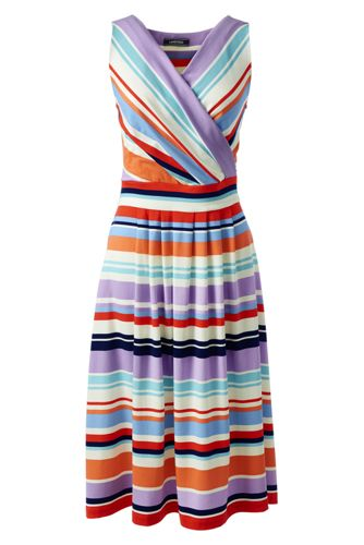 bbc1f034a11 Women s Pattern Sleeveless Crossover Dress