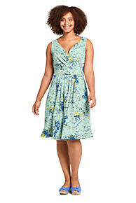 5d43a6d106d Women s Plus Size Banded Waist Fit and Flare Dress Knee Length