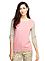 Women's Regular Tipped Colourblock 3-Quarter Sleeve Supima® Crew neck