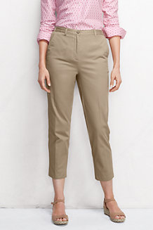 Women's Back-elastic Chino Crops