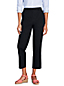 Women's High Waisted Cropped Trousers with Back Elastic