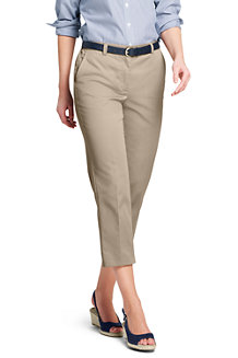 Womens Plus High Waisted Chinos with Back-elastic - 24 - BLUE Lands End