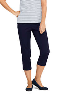 Women's 7 Day Elastic Back Comfort Waist Capri Pants, Front