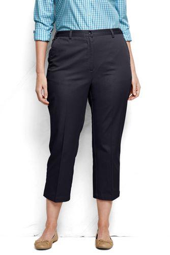 Taillenhohe 7/8-Komforthose für Damen in Plusgröße