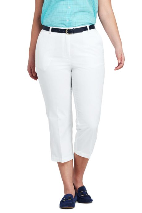 Women's Plus Size 7 Day Elastic Back Crop Pants