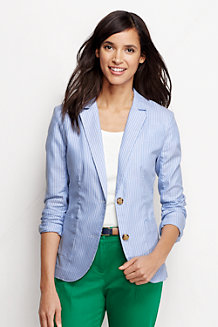 Women's Striped Oxford Jacket