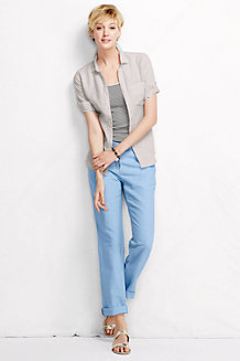 Women's Linen/Cotton Drawstring Trousers