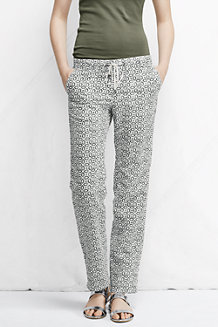 Women's  Pattern Linen/Cotton Drawstring Trousers
