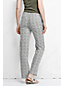 Women's Regular Pattern Linen/Cotton Drawstring Trousers
