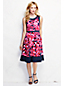Women's Regular Ponte A-Line Floral Dress