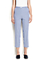 Women's High Waisted Back-elastic Cropped Trousers