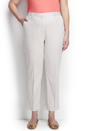 Women's Regular Back-elastic Pincord Chino Crops