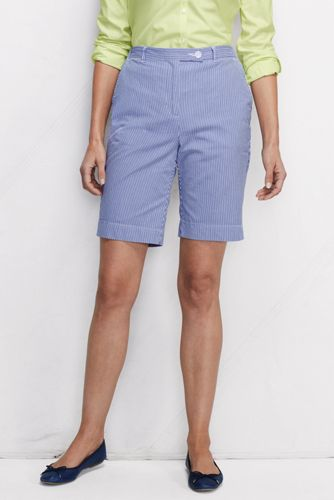 Women's Regular Back Elastic Pincord Bermuda Shorts