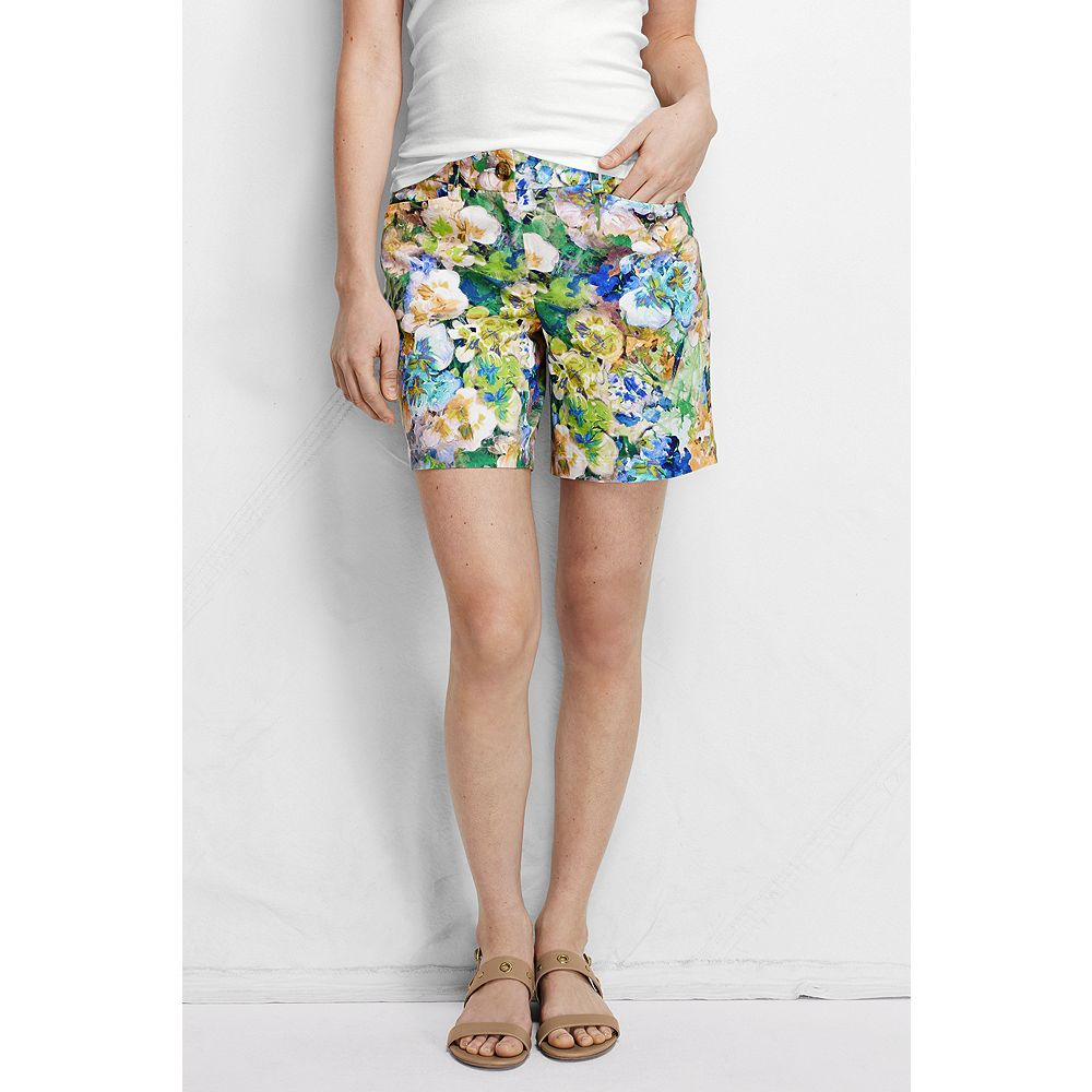 "Lands' End Women's Fit 2 7"" Chino Shorts - Print at Sears.com"