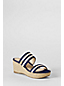 Women's Striped Mid-wedge Mule Sandals